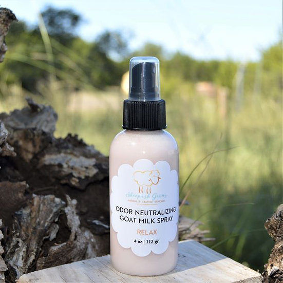 Odor Neutralizing Goat Milk Body Spray Sheepish Grins Handmade All-Natural Eco-Friendly Bath & Body Boerne San Antonio Texas