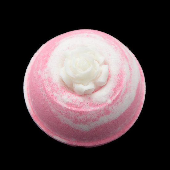Pink Mimosa Bath Bomb Sheepish Grins All-Natural Eco-Friendly Handmade Bath & Body Boerne San Antonio Texas