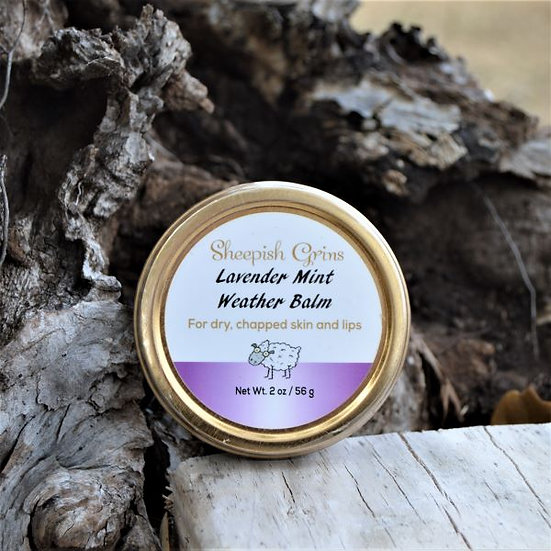 Lavender Mint Weather Balm Sheepish Grins Natural Eco-Friendly Handmade Bath & Body Boerne San Antonio Texas