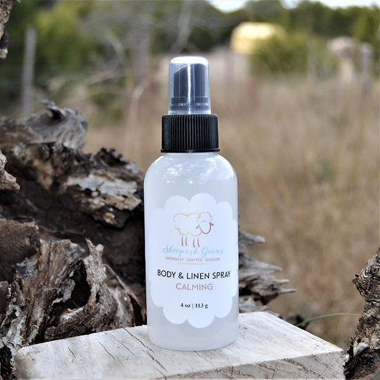 Body & Linen Spray Sheepish Grins All-Natural Eco-Friendly Handmade Bath & Body Boerne San Antonio Texas