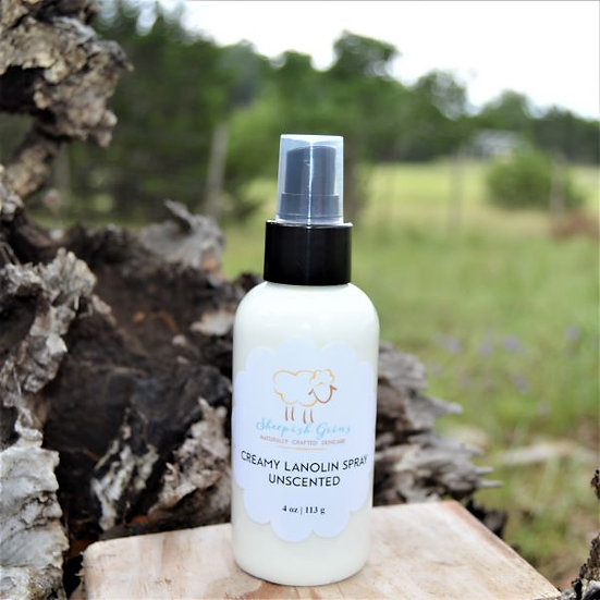 Creamy Lanolin Spray Lanolize Wool Sheepish Grins  Handmade All-Natural Eco-Friendly Bath & Body  Boerne San Antonio Texas