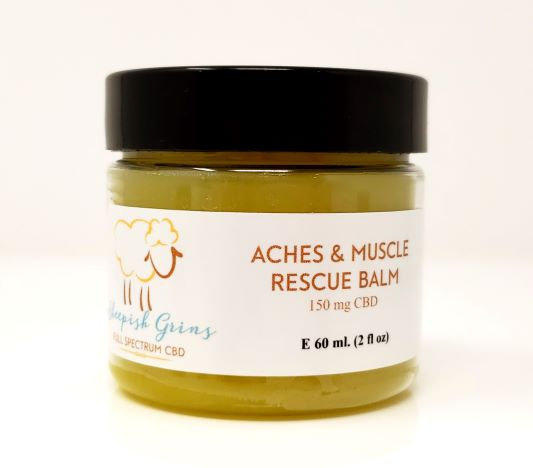 CBD Hemp Oil Muscle Ache Balm Sheepish Grins All-Natural Eco-Friendly Handmade Bath & Body Boerne San Antonio Texas