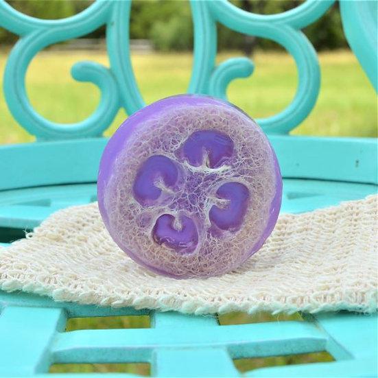 Loofah Scrub Soap Sheepish Grins Handmade All-Natural Eco-Friendly Bath & Body Boerne San Antonio Texas