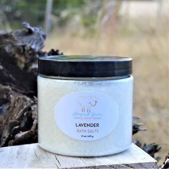 Lavender Bath Salts | Sheepish Grins | Handmade All-Natural Eco-Friendly Bath & Body Products | Boerne San Antonio Texas
