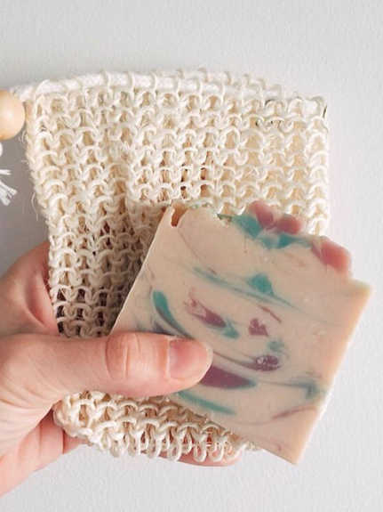 goat's milk bar soap and washing pouch _