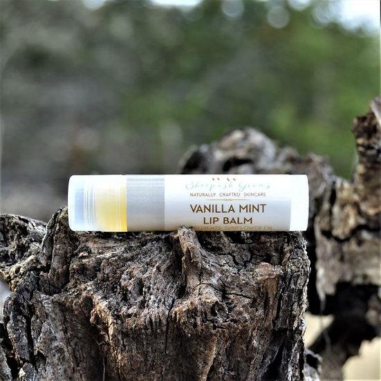 Vanilla Mint Lip Balm Sheepish Grins Natural Eco-Friendly Handmade Bath & Body Boerne San Antonio Texas
