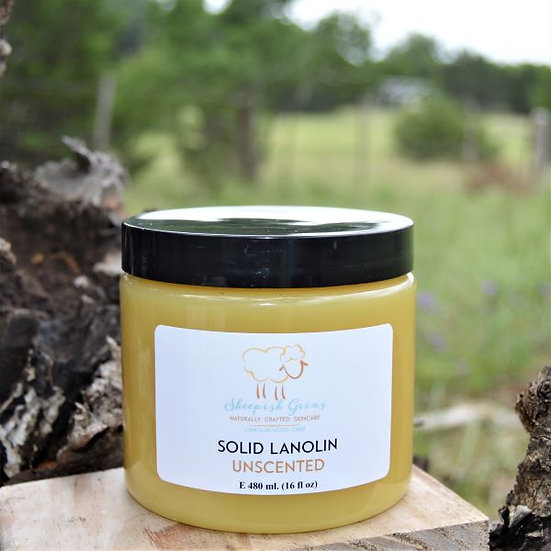 Solid Lanolin Wool Care Lanolize Sheepish Grins All-Natural Eco-Friendly Handmade Bath & Body Boerne San Antonio Texas