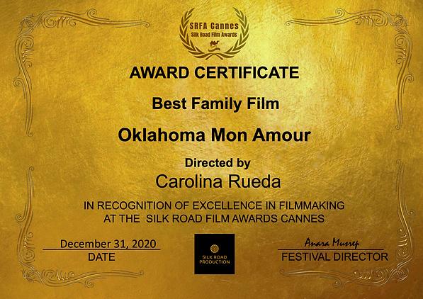 Silk Road Film Awards. Best Family Film.