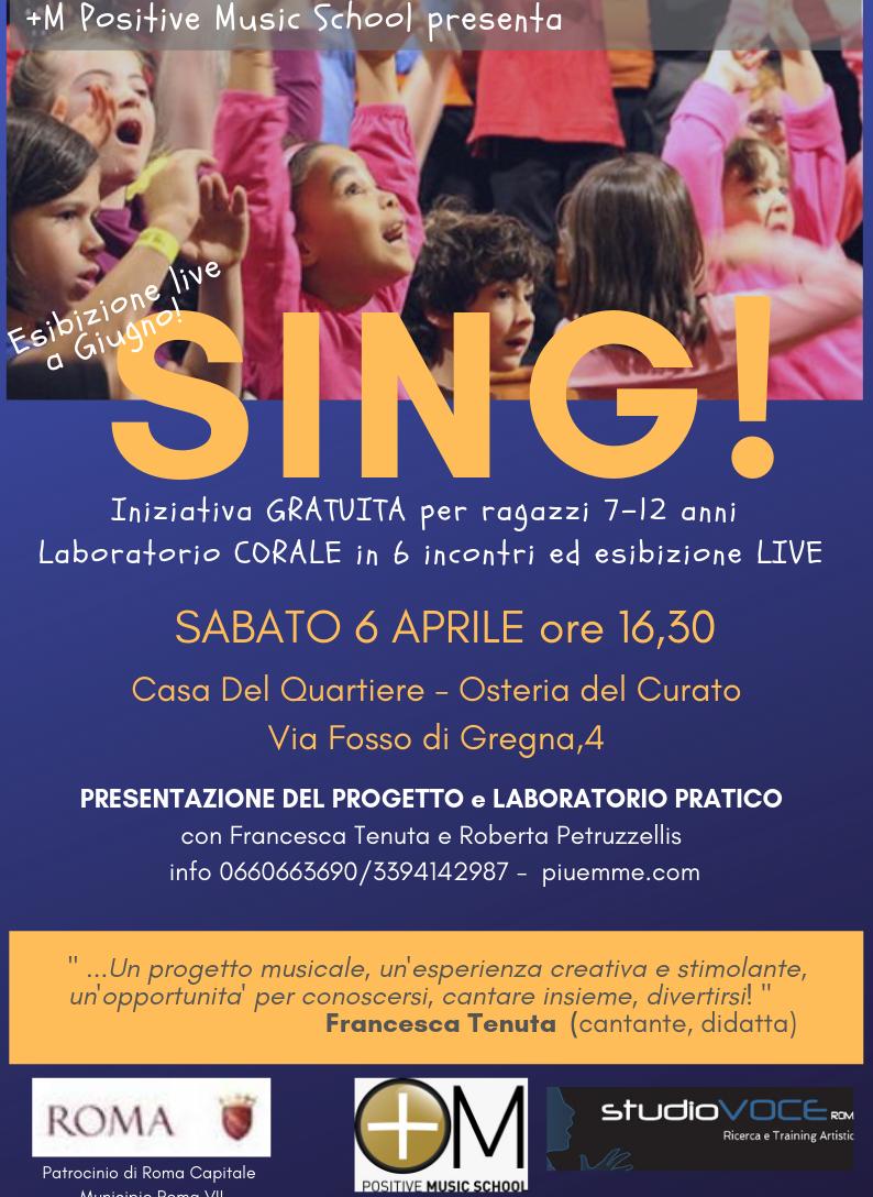 Sing! Laboratorio corale per ragazzi 7-12 anni