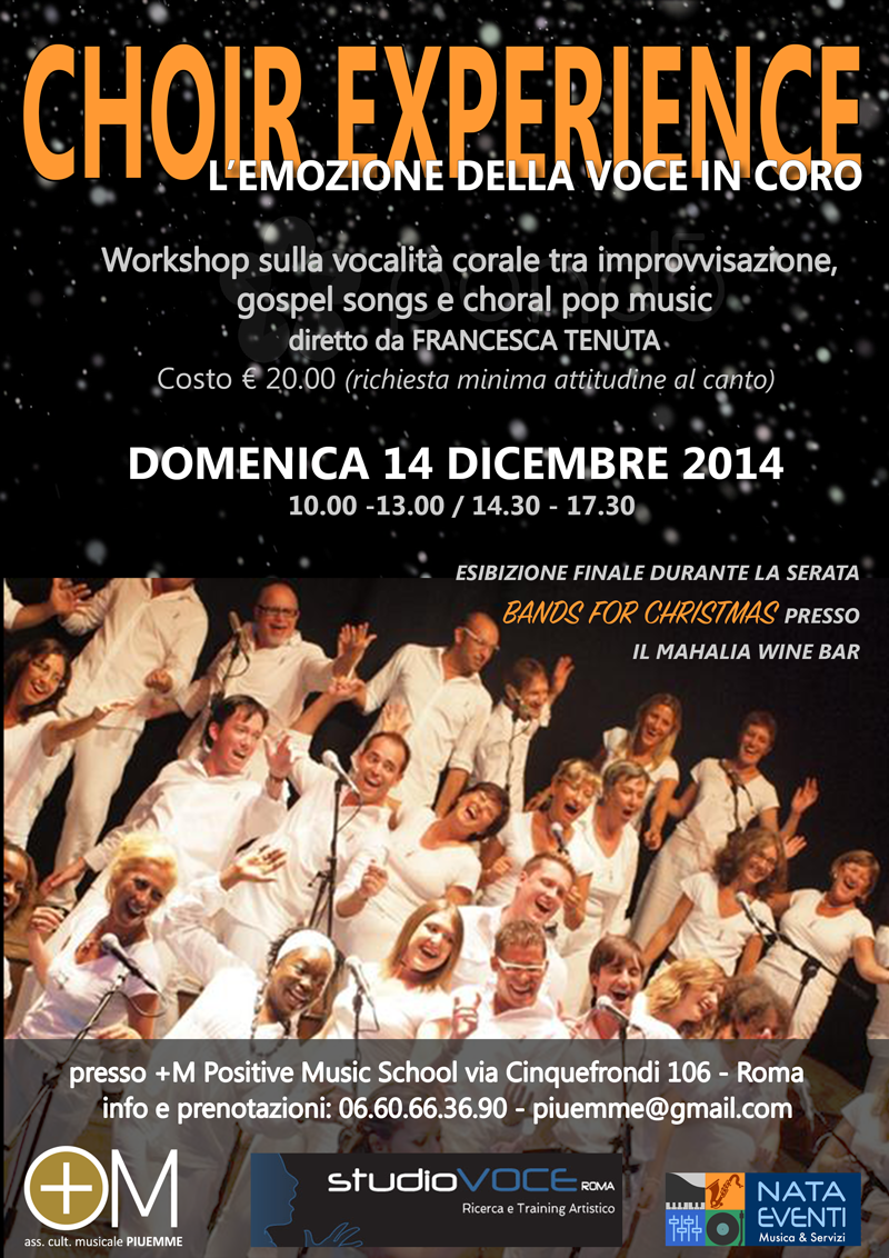 STUDIOVOCE ROMA: CHOIR EXPERIENCE - dicembre 2014