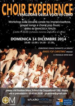 STUDIOVOCE ROMA: CHOIR EXPERIENCE - dicembre 2014