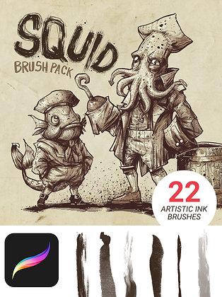 Squid Brush Pack for Procreate