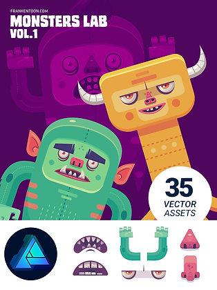 Monsters Lab Vol.1 for Affinity Designer