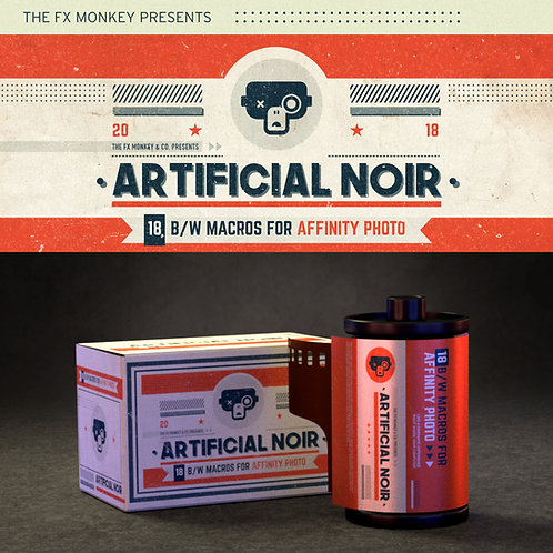 Artificial Noir - 18 B&W Macros for Affinity Photo
