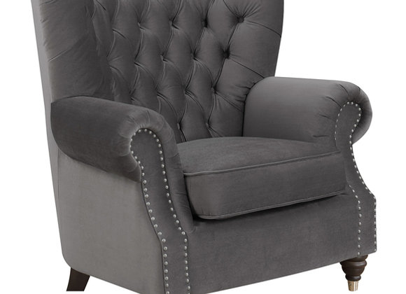 Capone Accent Chair - Charcoal PU