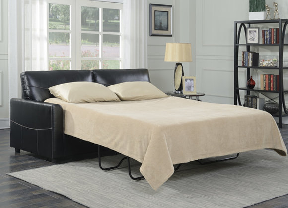 Slumber Full Sleeper with Gel Foam Mattress - Black PU