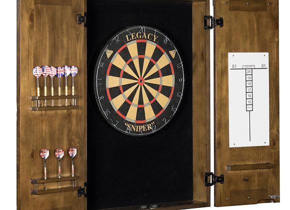 Rustic Dartboard Cabinet - 2 Colors