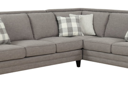Willow Creek 2 Piece Sectional - Pebble Gray