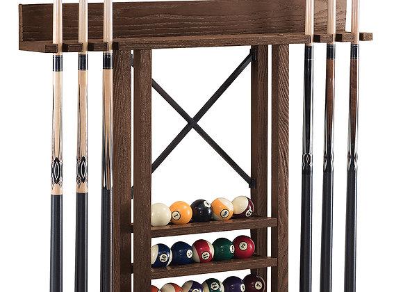 Rustic Wall Cue Rack - 2 Colors