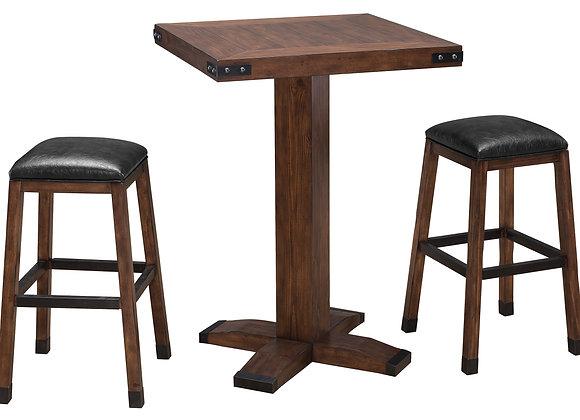 Rustic 30 Inch Square Pub Table - 3 Colors