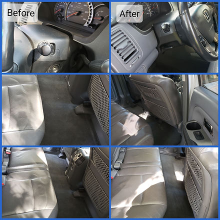 before & after pictures of interior detail