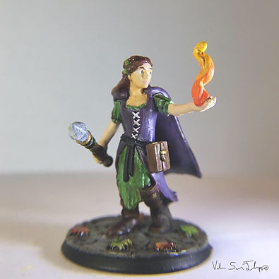 Eva Greyholme Heroforge painted mini by Valerie San Filippo