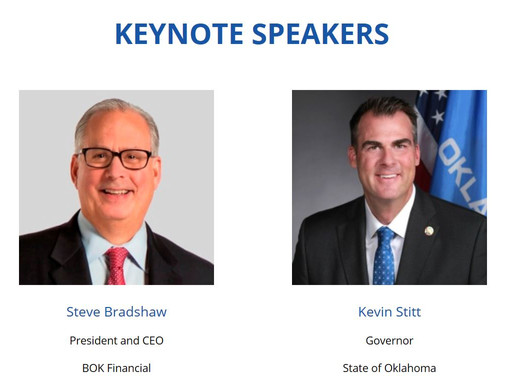 Oklahoma Governor Kevin Stitt and BOK Financial President & CEO Steve Bradshaw to Headline the 2