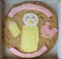 baby shower cookie cake