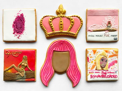 Custom decorated sugar cookies of Nicki Minaj for MTV