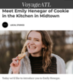 Emily Henegar of Cookie in the Kitchen featured in VoyageATL