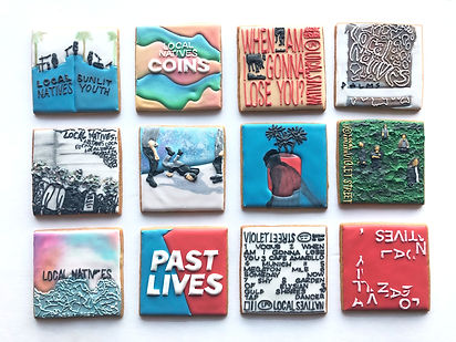 Custom decorated sugar cookies for Local Natives of their album art, merchandise, and fan art