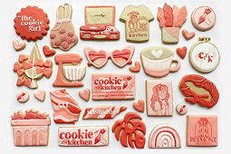 decorated sugar cookies for cookie in the kitchen's 2020 rebranding and giveaway