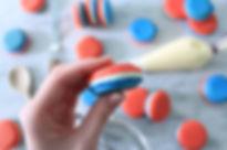 french flag macarons