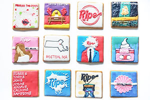 ripe band decorated sugar cookies