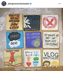 Author John Green posts on his Instagram about his custom cookies from Cookie in the Kitchen