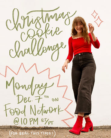 Emily Henegar of Cookie in the Kitchen on Food Network Christmas Cookie Challenge