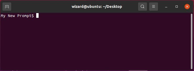 Example of custom prompt saved to .bashrc