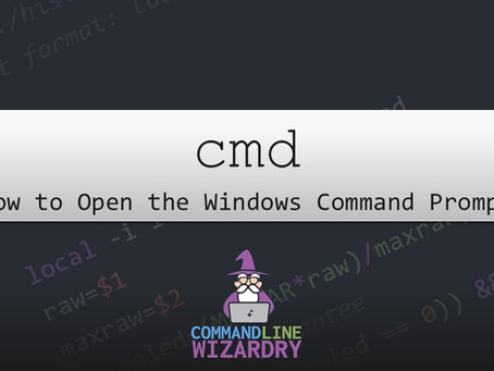 How to Open the Windows Command Prompt