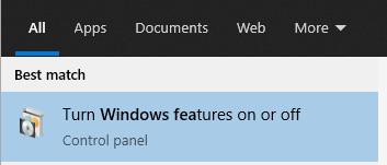 Turn On Windows Feature