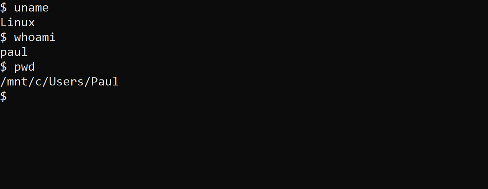 Running Linux Commands from Within WSL