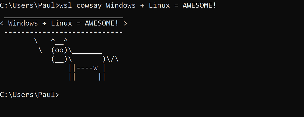 Running Linux Commands from the Windows Command Prompt