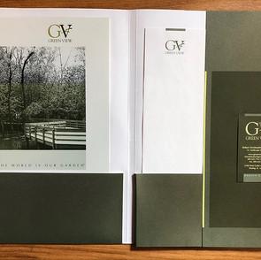 GreenView Companies Folder, Brochure, Letterhead, Business Card