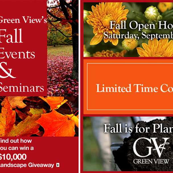 Evite Announcing Fall Events for Green View Companies