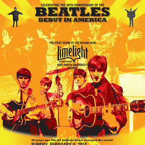 Poster Announcing Celebration of the 50th Anniversary of the Beatles Debut in America