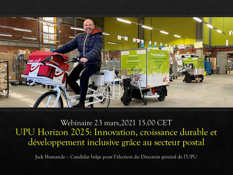 Webinaire UPU Horizon 2025: (Ré)inventons ensemble le secteur postal