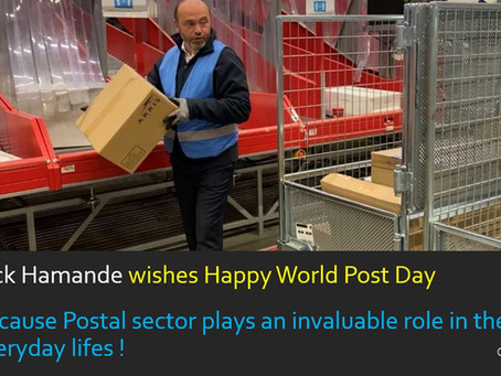 Postal sector is much more than a parcel or a mail ! Happy World Post Day !
