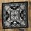 Thumbnail: Toon Handmade Silk Scarf 62 x 62 cm Black