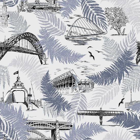 Spirit of the Tyne-Black-White-Classic wallpaper