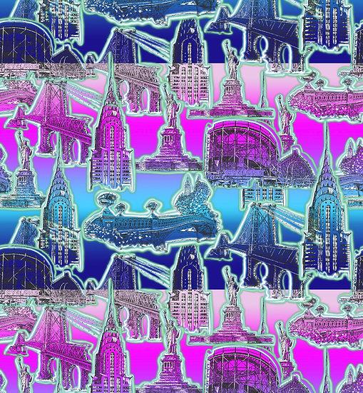 New York City Vibes-Neon Mint