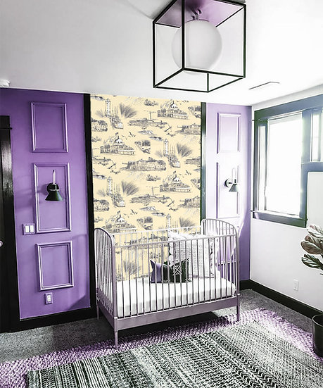 Whitley Bay Breeze Baby Room -Wallpaper
